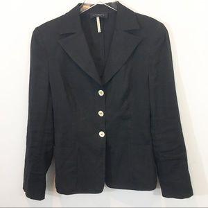 Piazza Sempione   Italian Black Linen Jacket